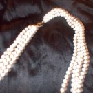 vintage ladies long pearl necklaces