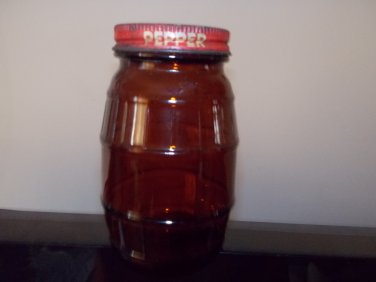vintage  brown glass salt & pepper shakers