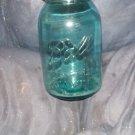 vintage aqu-green qt. fruit jars