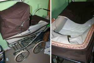 SILVER CROSS Pram Stroller Antique - Made in England