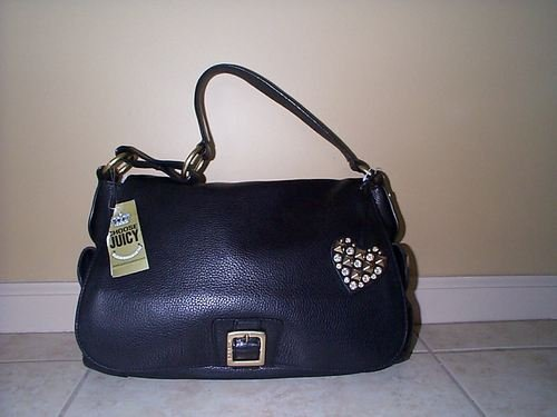Juicy Black Pebblegrain Leather Shoulder Bag!