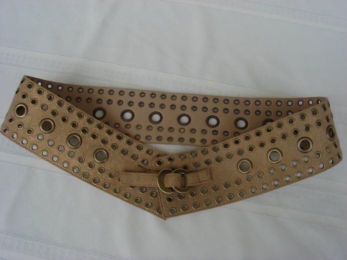 Calvin Klein Metallic Gold Leather Belt