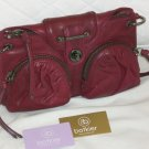 Botkier Cherry Red Leather Bianca Clutch