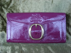COACH  Patent Leather Bleeker Slim Envelope 41557