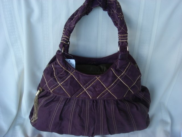 Laundry Purple Leather With Tassel GORGEOUS! $500+