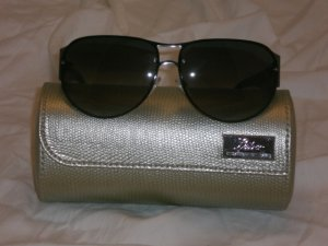 Judith Leiber Mosaic Aviator Onyx Sunglasses $700++