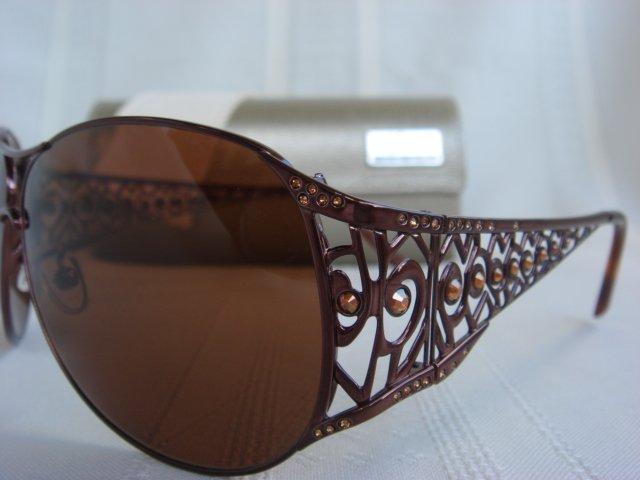 Judith Leiber Aztec Aviator Bronze Sunglasses $885++