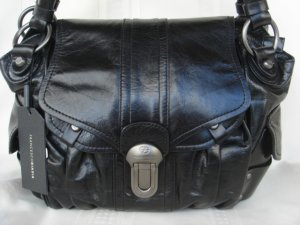 Francesca Biasia Hot Stuff Black Leather
