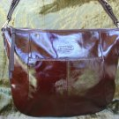 Coach Soho Brown Patent Leather Large Hobo F12687