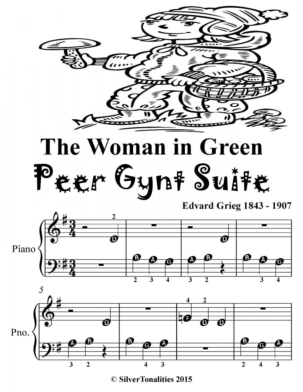 Woman in Green the Peer Gynt Suite Beginner Piano Sheet
