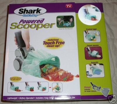 New! SHARK POWERED SCOOPER! grab 'n bag Pooper Scooper