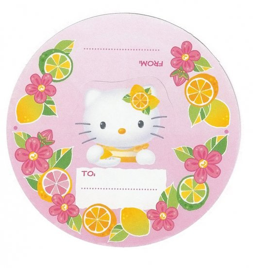 Hello Kitty Citrus Memo Sheets