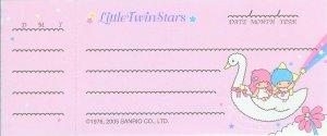 Little Twin Stars Cheque Memo Sheets
