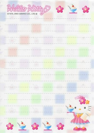 *Rare* Hello Kitty Ice Cream Waitress Memo Sheets