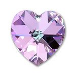 4 Swarovski Vitrail Light 6202 Heart Pendants 14 mm