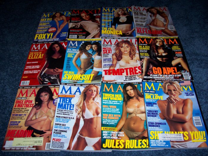 All 12 issues of Maxim Magazine from 2001