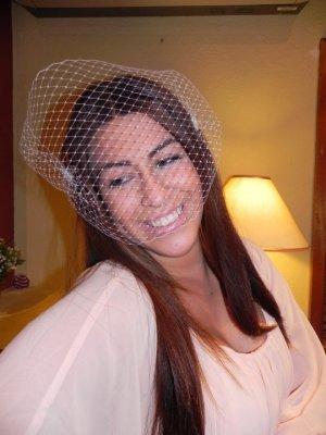 .Gorgeous White Birdcage Veil ,Bride, Flower, Bridal,fascinator