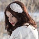 Vintage inspired bridal beaded headpiece,Bride, Fascinator