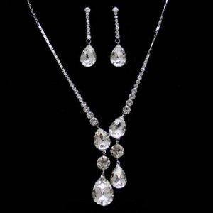 Swarovski Crystals Bridal Necklace Set, Wedding or Red Carpet Event