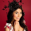 Elegant Black Headpiece,Fascinator,Wedding,Races