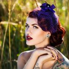 Gorgeous Purple & Black Fascinator