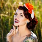 Orange Headpiece Fascinator