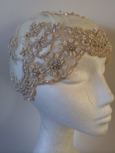 Lace Bridal Cap Fascinator Headpiece