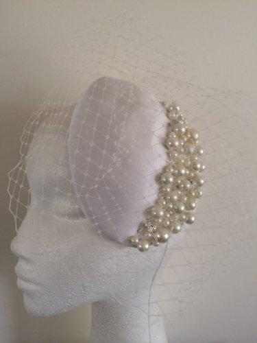 Vintage Style Bridal Headpiece Fascinator