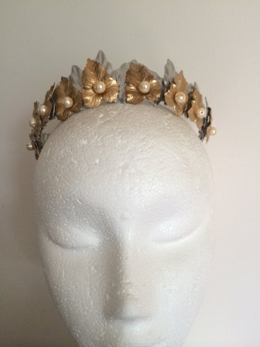 Gold and Silver leaf crown,crown, limited edition,fascinator,bridal headpiece
