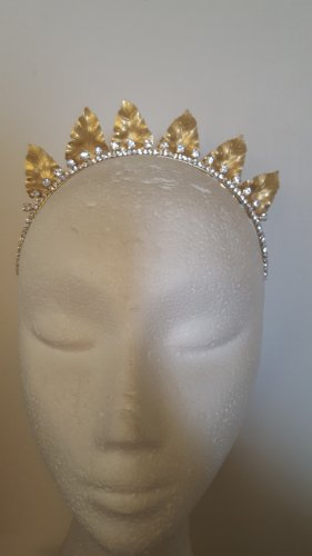 Gold leaf crown,fascinator,tiara,bridal headpiece