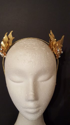 Gold leaf crown,Headband, limited edition,fascinator,bridal headpiece