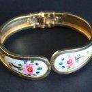 Vintage Flower Clamper Hinged Bracelet  1960s