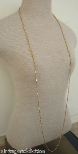 Vintage Monet Textured Gold Link Chain Necklace