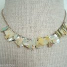 Vintage Mother Of Pearl Unique Bib Necklace