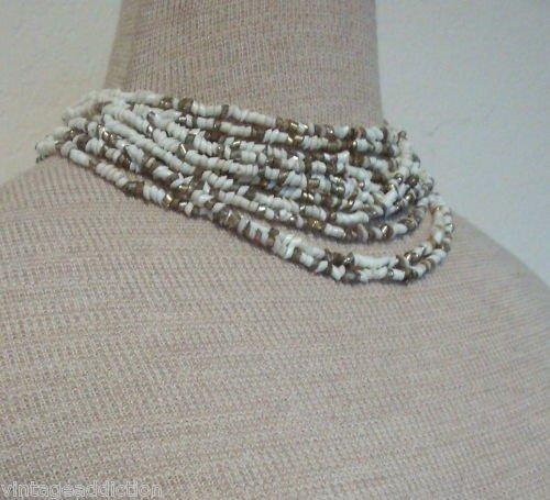 VintageFaux Opal Multi Layer Choker/Necklace