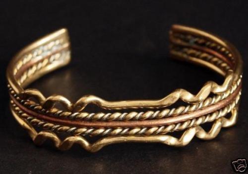 Vintage Copper Dual Tone Cuff Bracelet