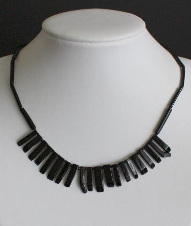 Vintage Black Egyptian Revival Choker Neckalce