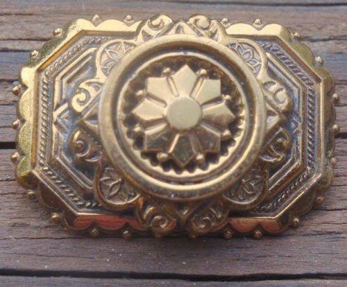 Unique Vintage Gold tone Rectangular Pin/Brooch