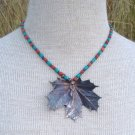 Vintage Southwestern Turquoise & Coral Pendant Necklace