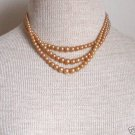 Vintage Art Deco Multi Strands Pearl Necklace Sterling