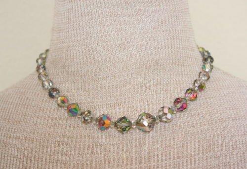 Vintage Laguna Aurora Borealis Glass Choker Necklace