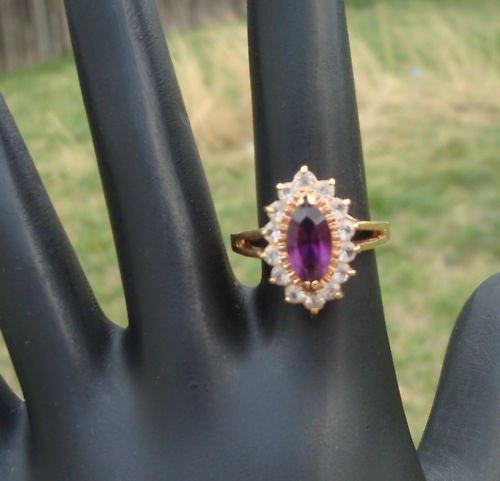 Vintage Purple Amethyst Like Ring Size 6