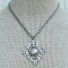 Vintage Silver Celebrity NY Chunky Pendant Necklace