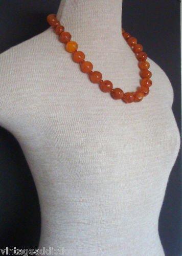 Vintage Art Deco Butterscotch Chunky Bead Necklace