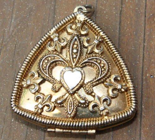Unique Vintage Triangle Locket Pendant