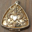 Unique Vintage Triangle Locket Pendant