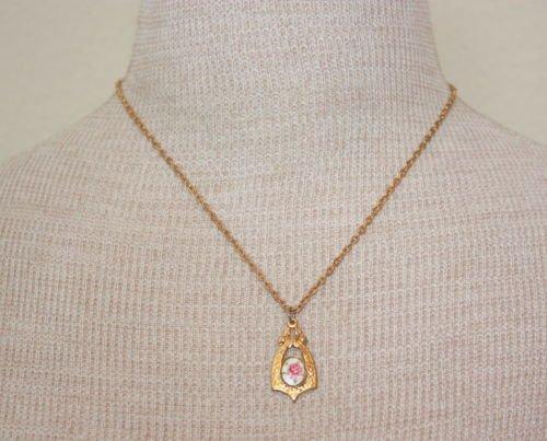 Vintage Lovely Cloisonne Pendant Chain Nekclace