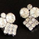 Vintage Signed Celebrity NY Rhinestone Clip On Earring