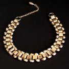 Vintage Gold Tone Link Choker Necklace