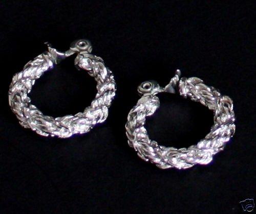 Vintage Silver Hoop Earrings Chunky!